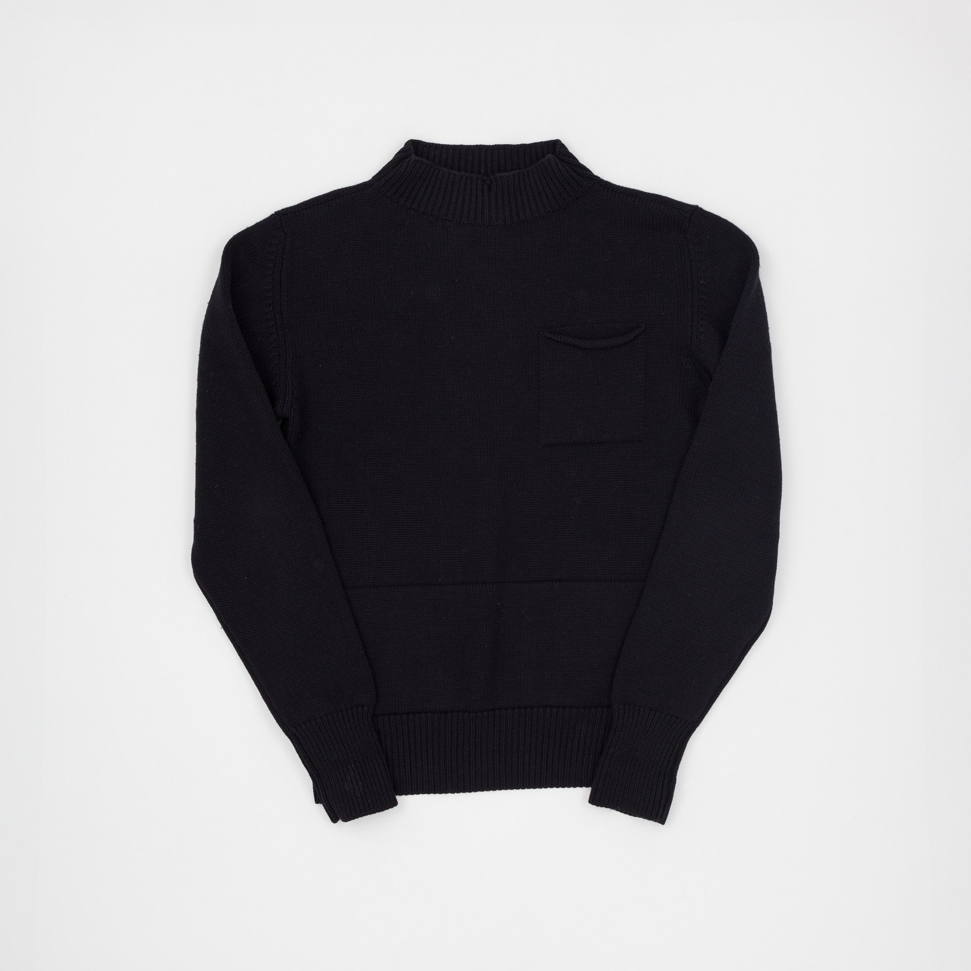 High Collar Fisherman Knitted Jumper