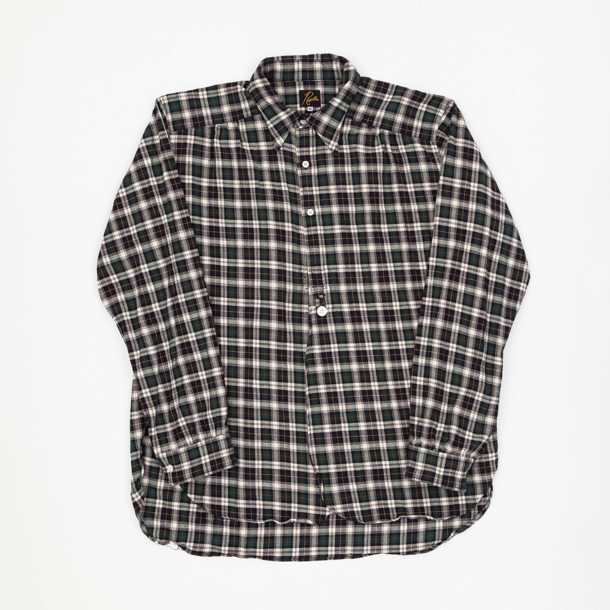 Tartan 1/2 Button Down Shirt