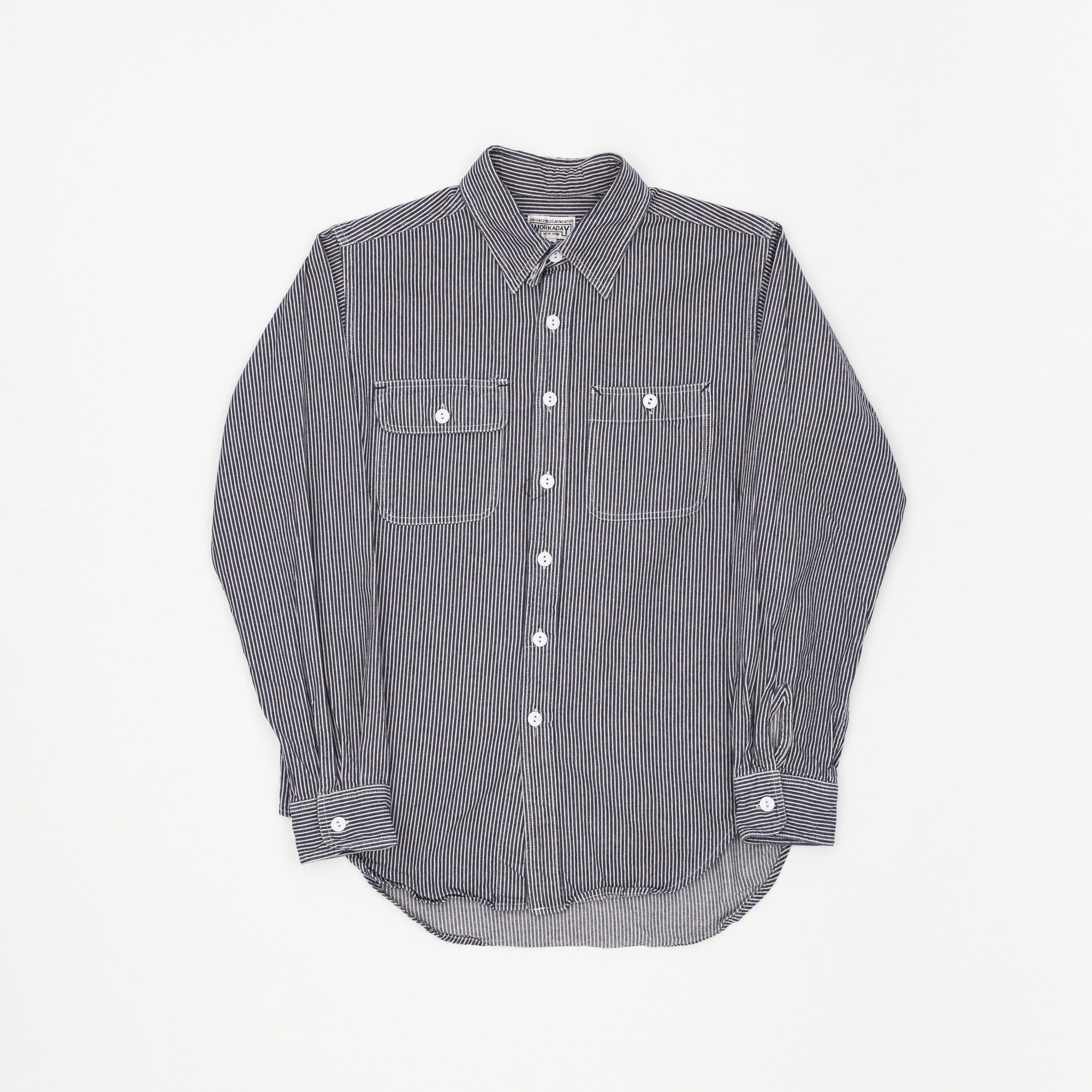 Engineered Garments Workaday Hickory Striped Work Shirt