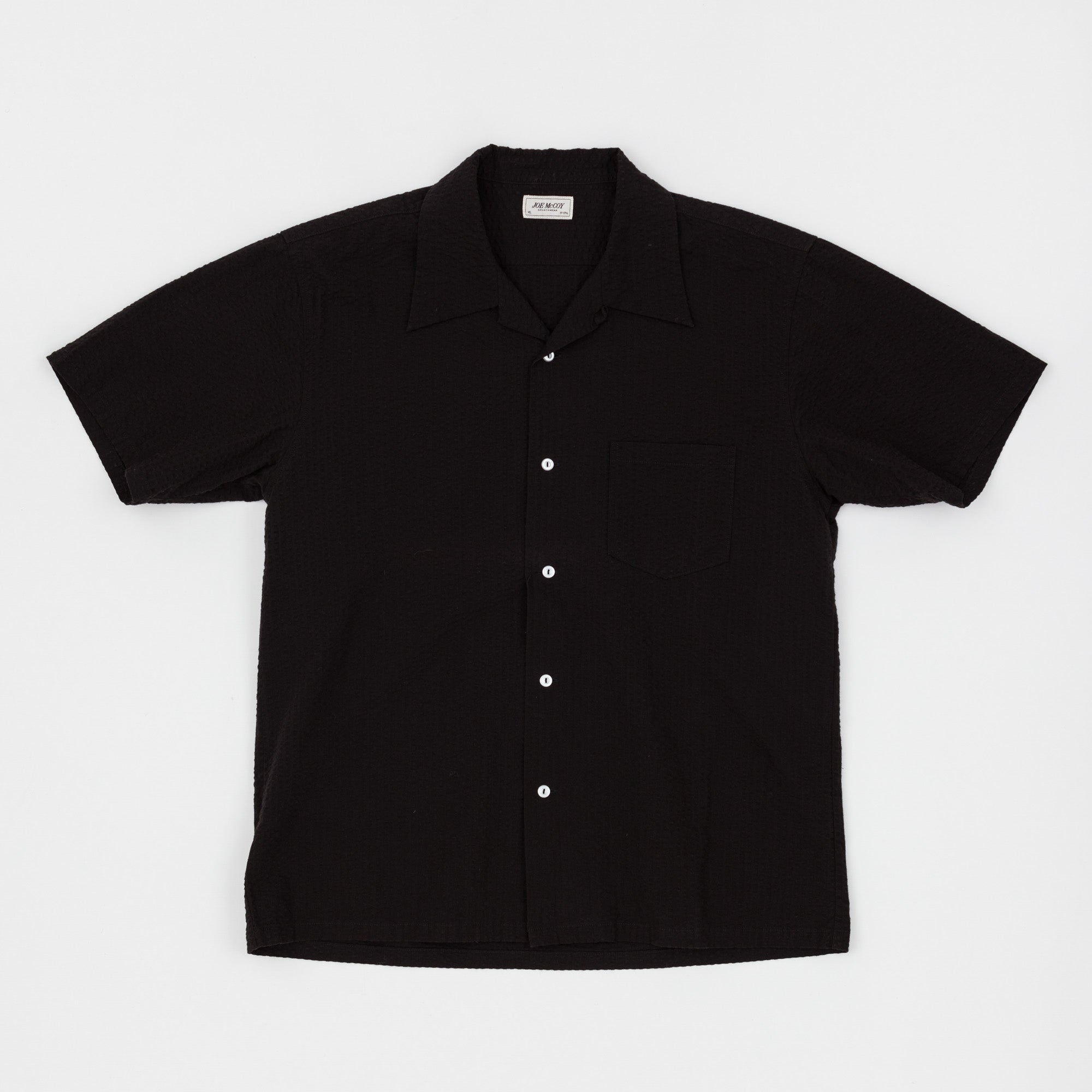 SS Seersucker Open Collar Shirt