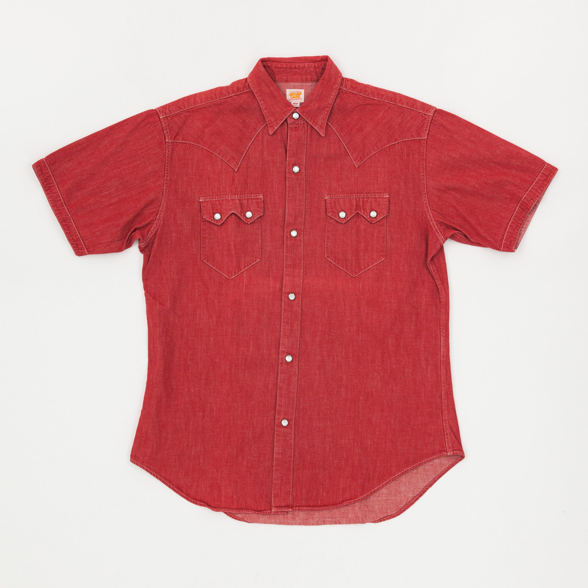 Sugar Cane Short Sleeve Western Shirt