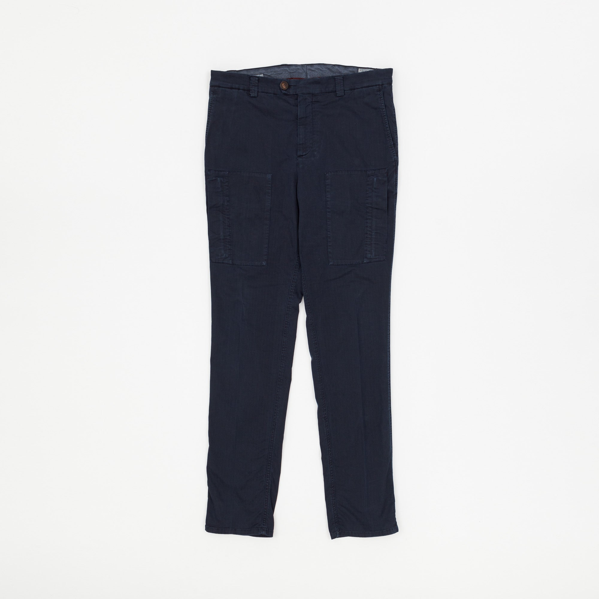 Brunello Cucinelli Leisure Fit Naval Trousers