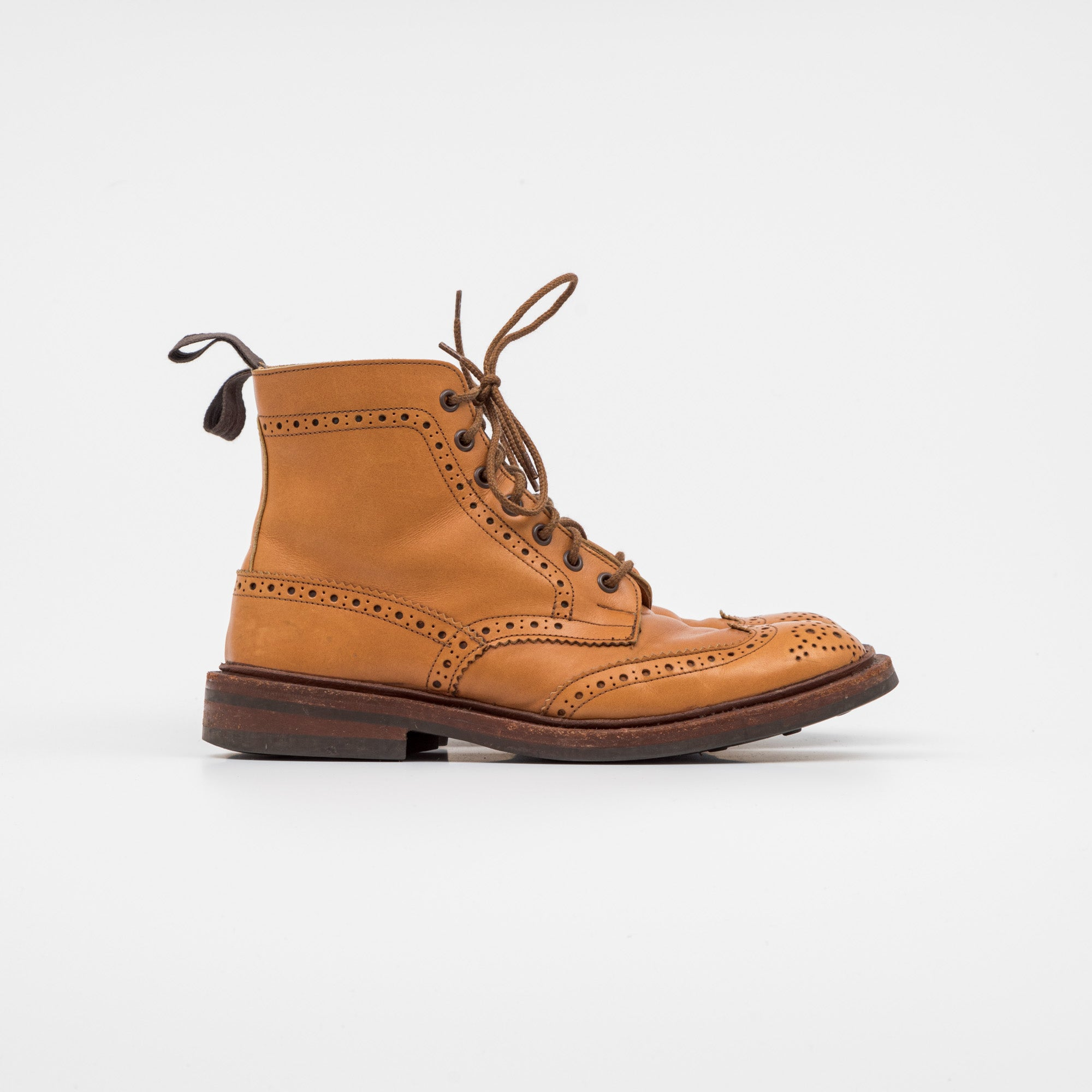 Tricker's Acorn Antique Brogue Boots