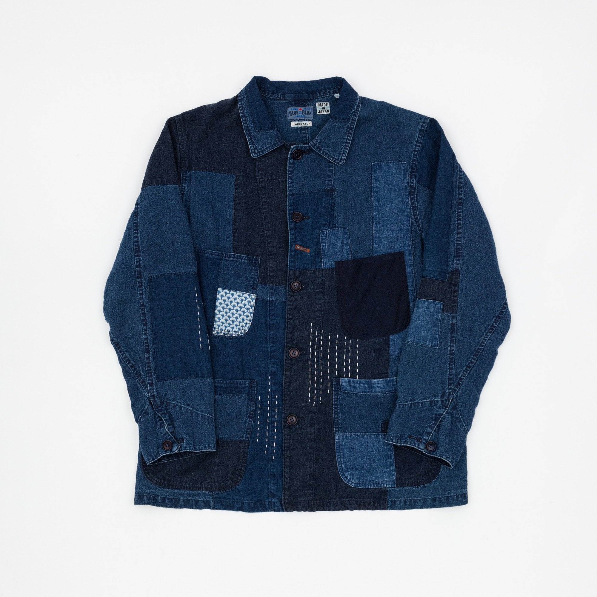 Blue Blue Japan Sashiko Patchwork Jacket