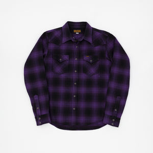 Iron Heart Heavy Flannel Check Work Shirt