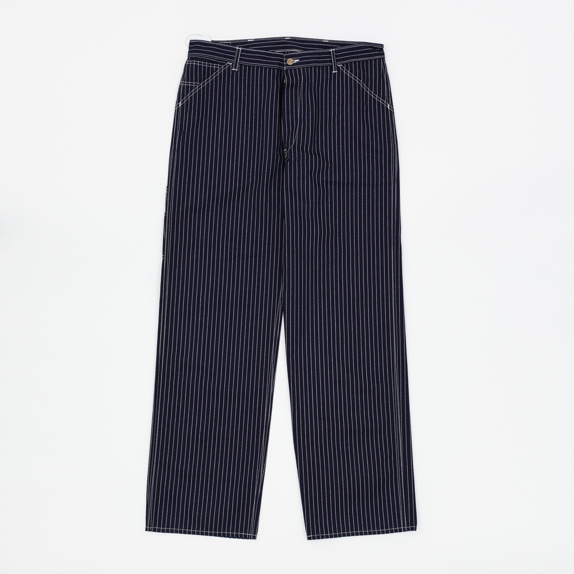 The Real McCoy's 8HU Indigo Wabash Stripe Trousers