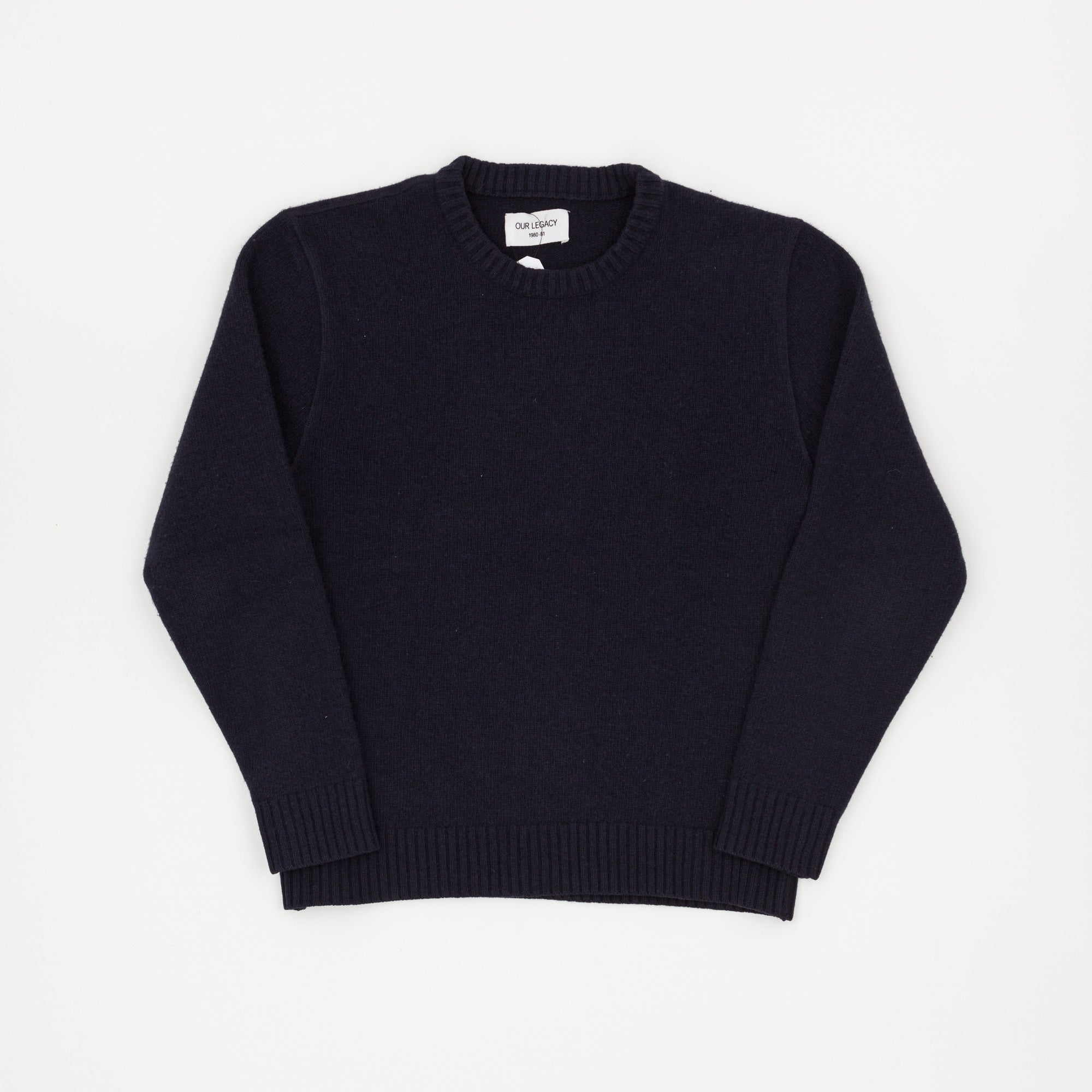 Our legacy Crewneck Boiled Wool Sweater