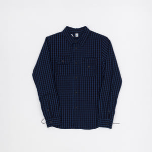 Pure Blue Japan Small Checked Work Shirt