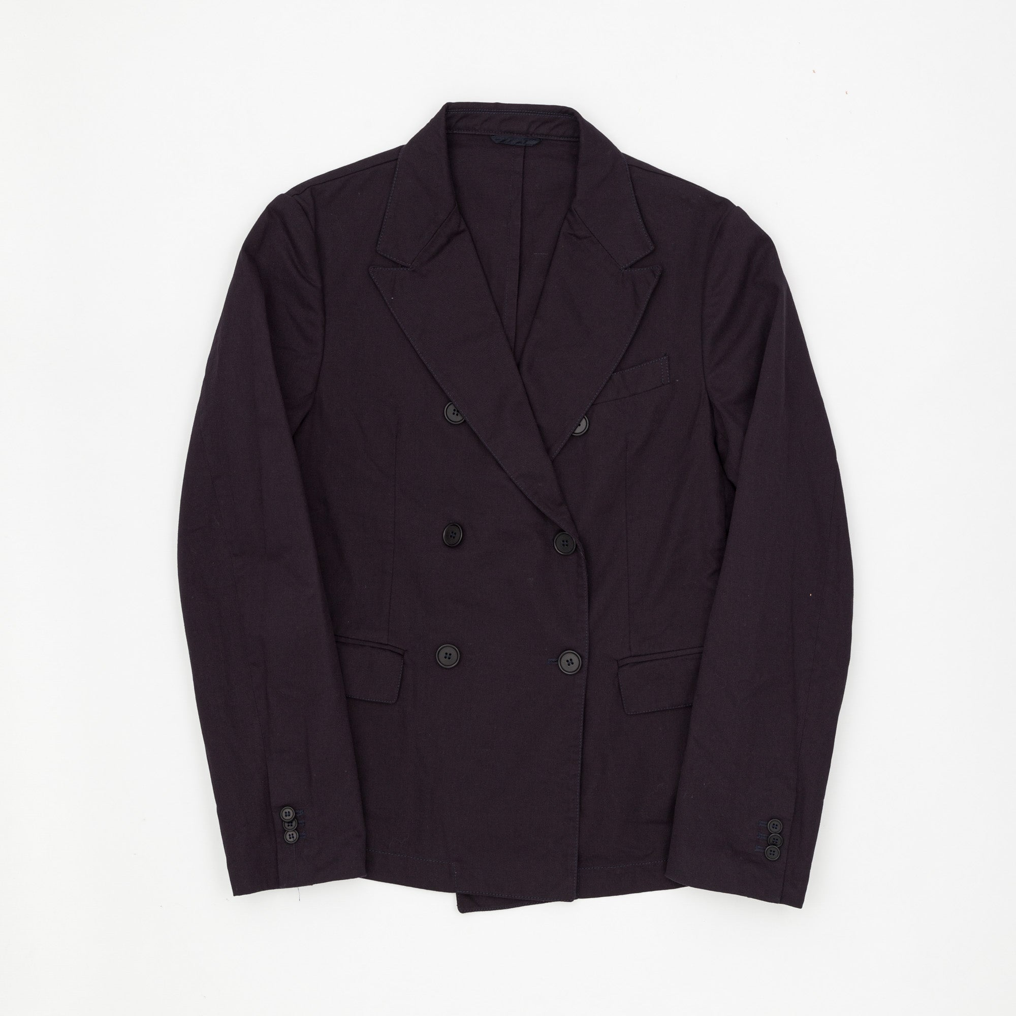 Double Breasted Cotton Blazer