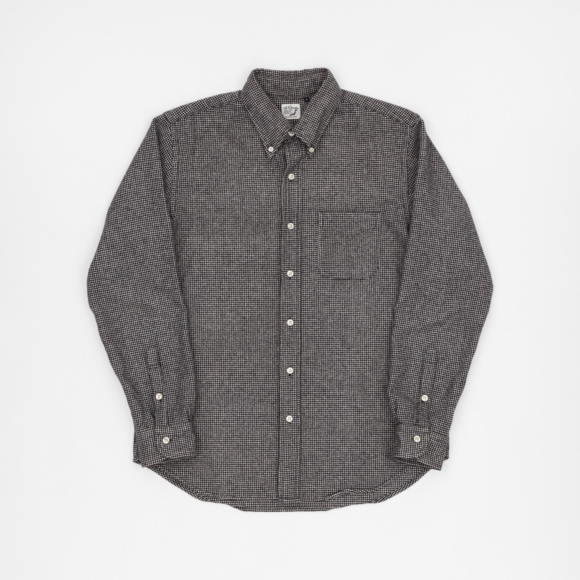 Orslow Gingham Check Wool Shirt