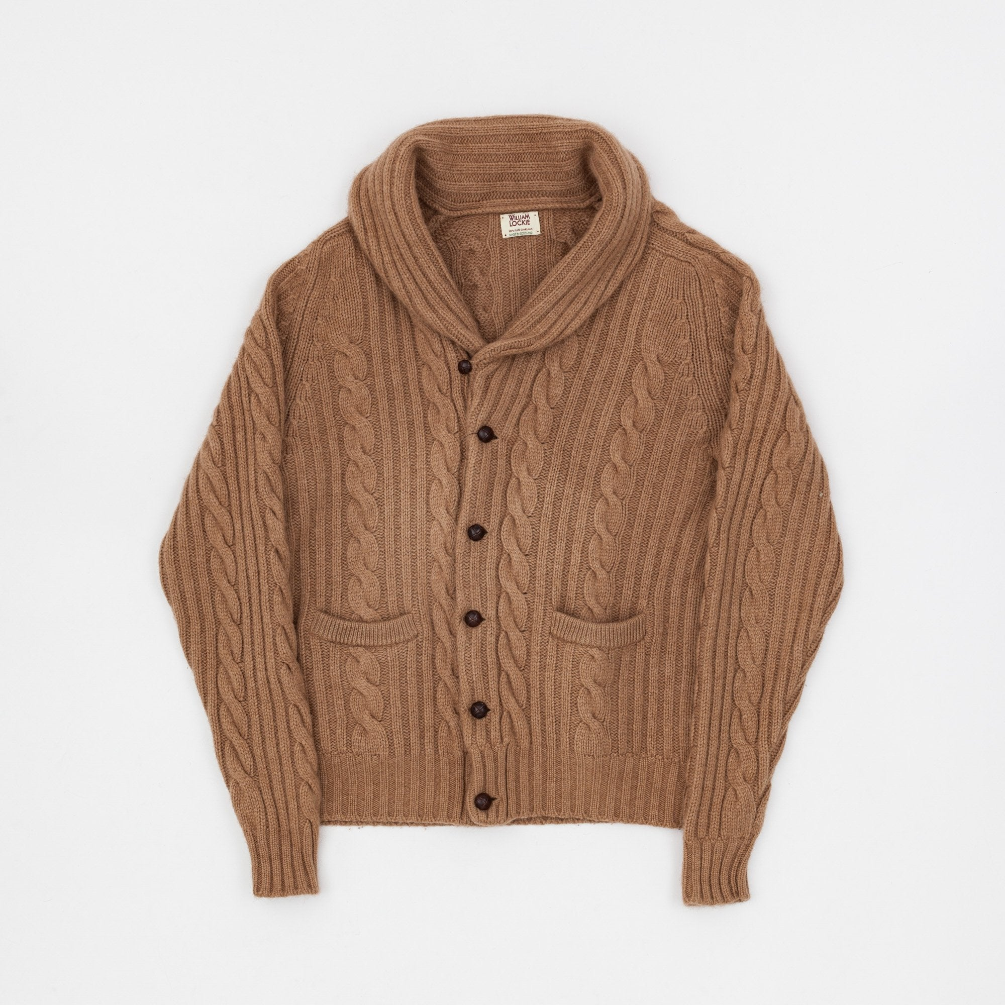 William Lockie Heavy Cable Knit Cardigan
