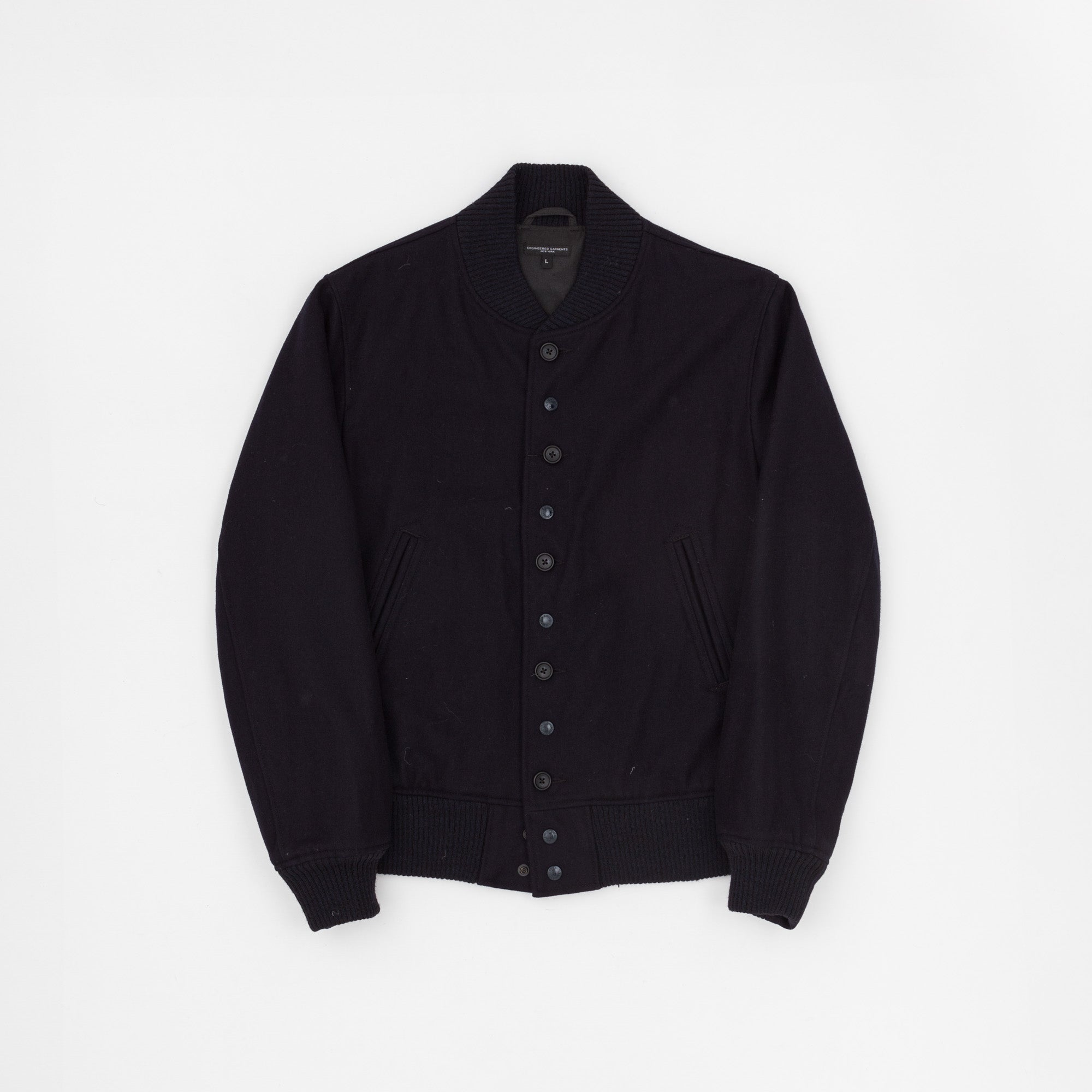 Melton Wool Baseball Jacket