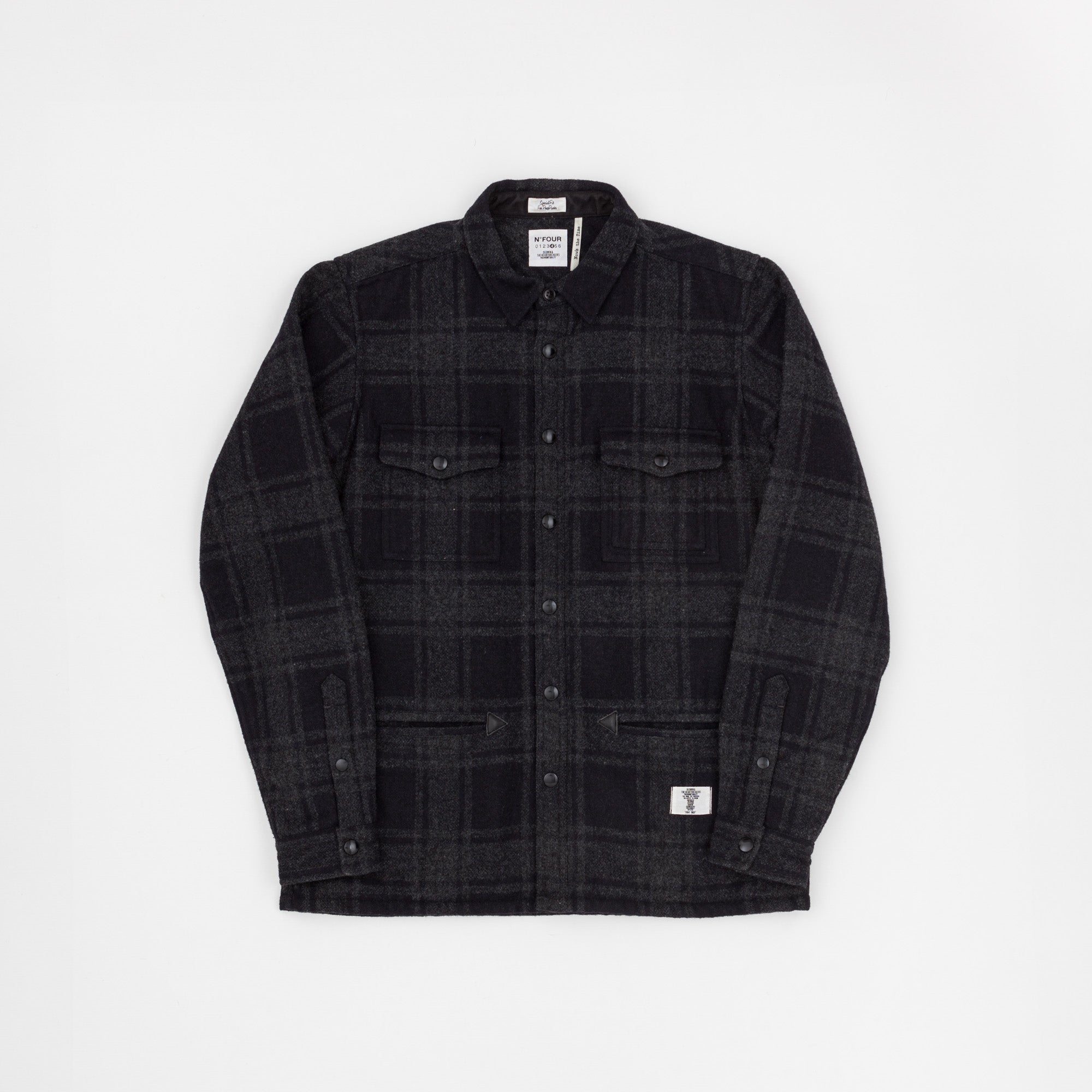 Bedwin and the HeartbreaK Checked Wool Shirt Jacket