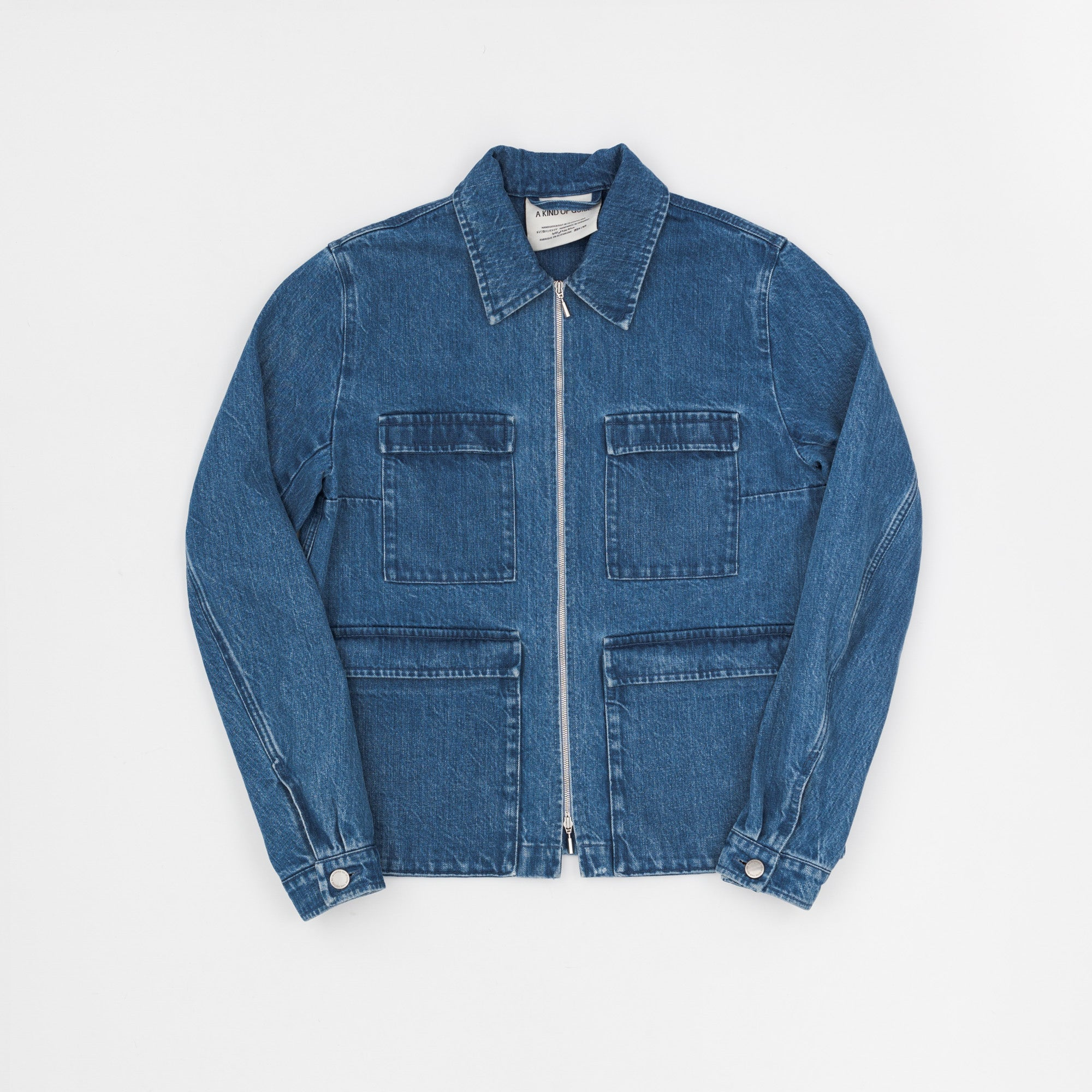 A Kind Of Guise Stonewashed Italian Denim Jacket