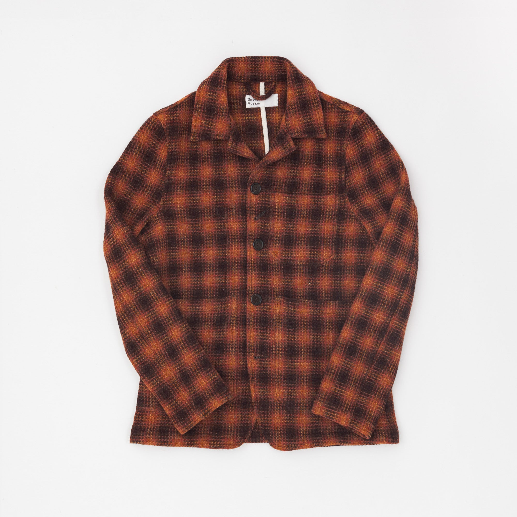 Universal Works Wool Check Bakers Jacket