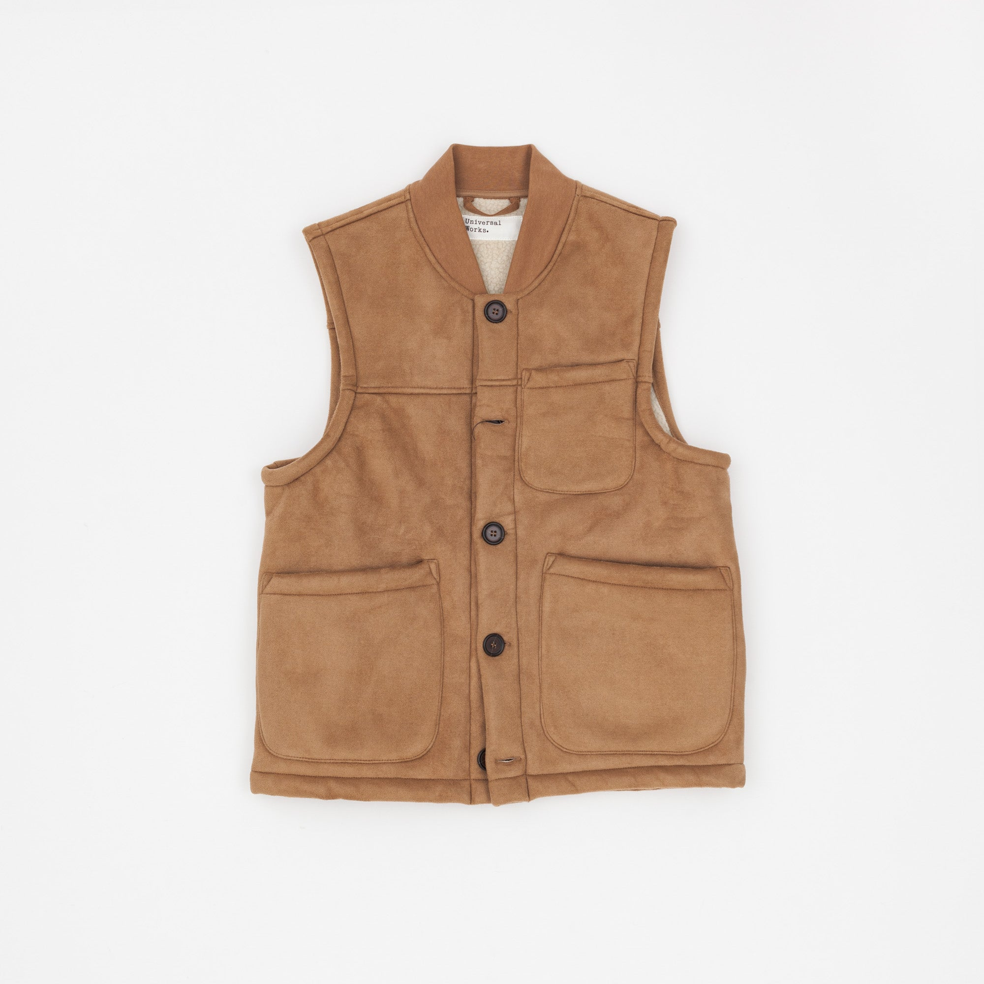 Universal Works Faux Shearling Chore Vest