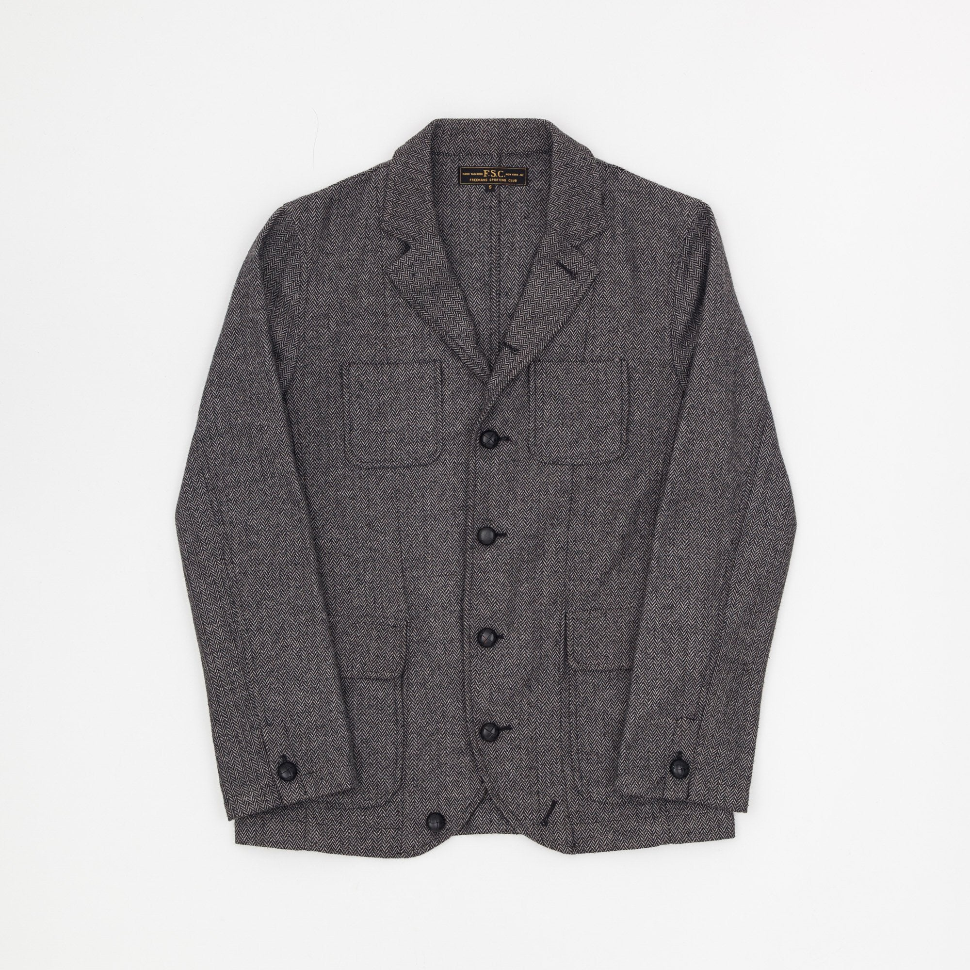 Freeman's Sporting Club Wool Herringbone Jacket