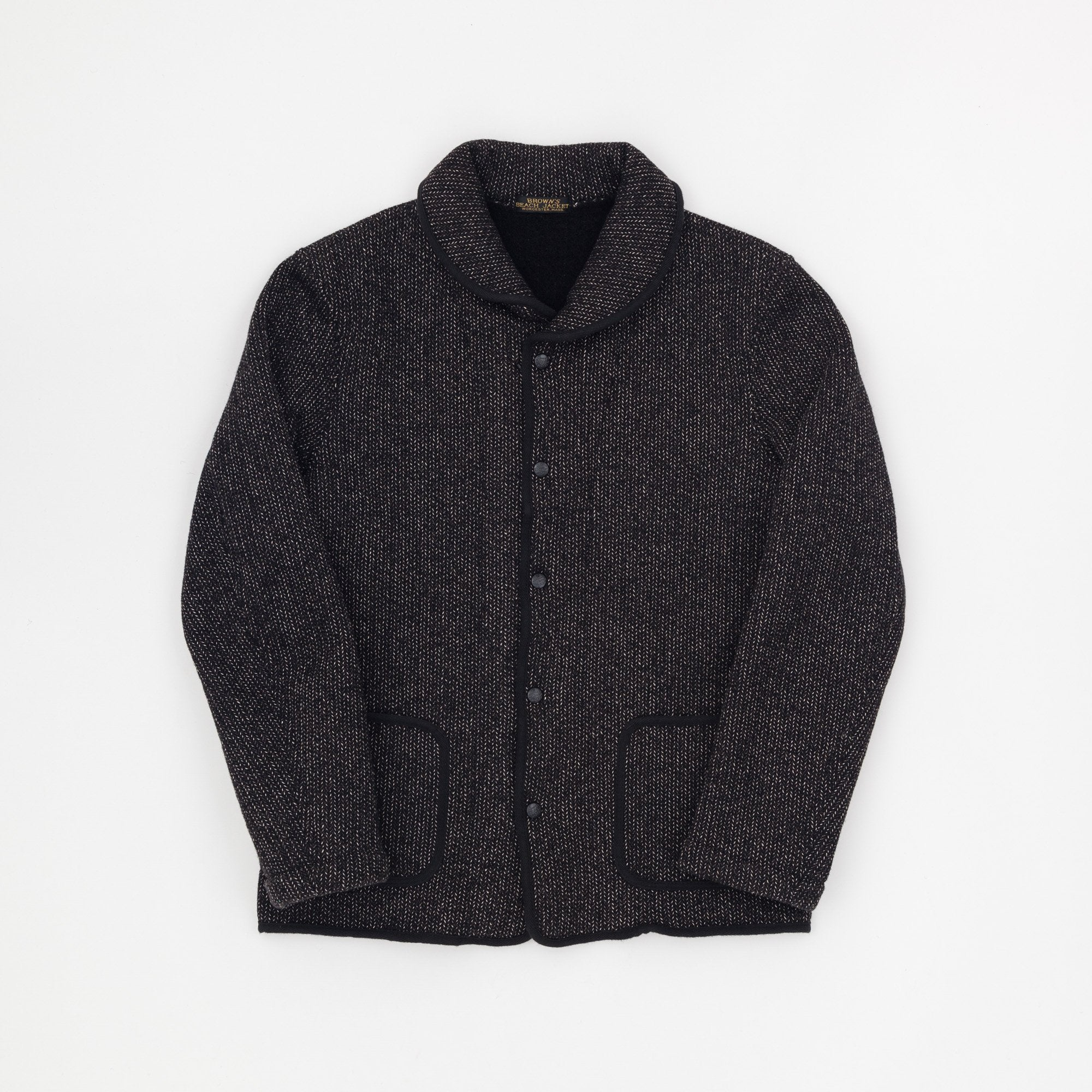 Brown's Beach Shawl Wool Raschel Jacket