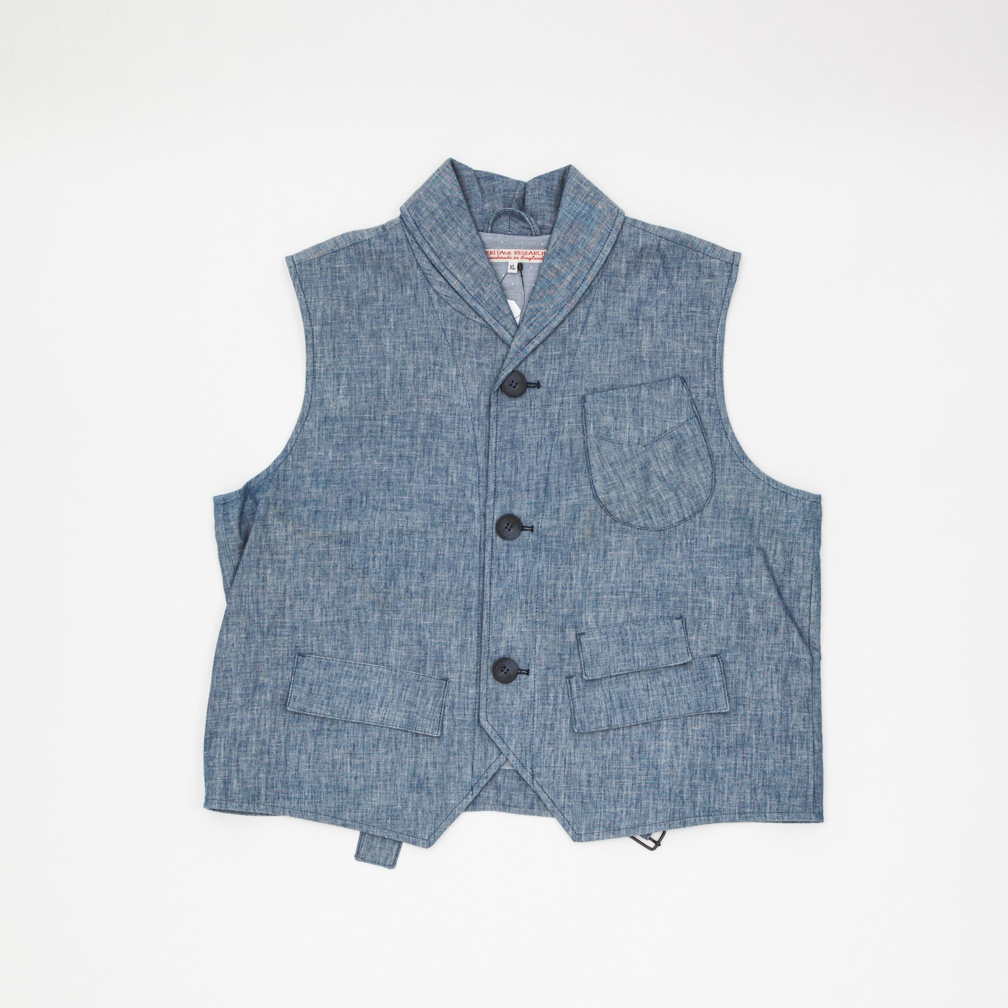 Heritage Research Cotton Shawl Collar Vest