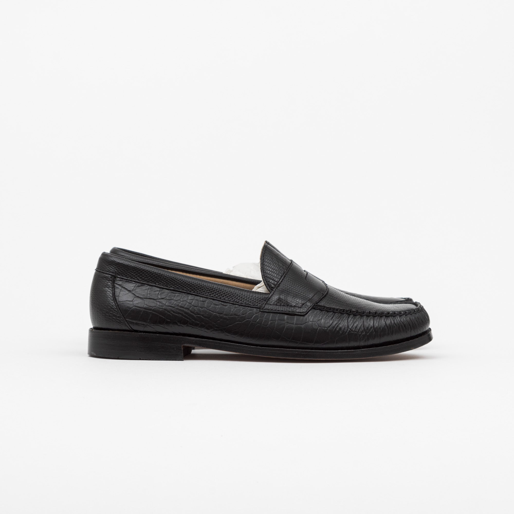 G.H Bass x Engineered Garments Logan Croc Leather Loafers