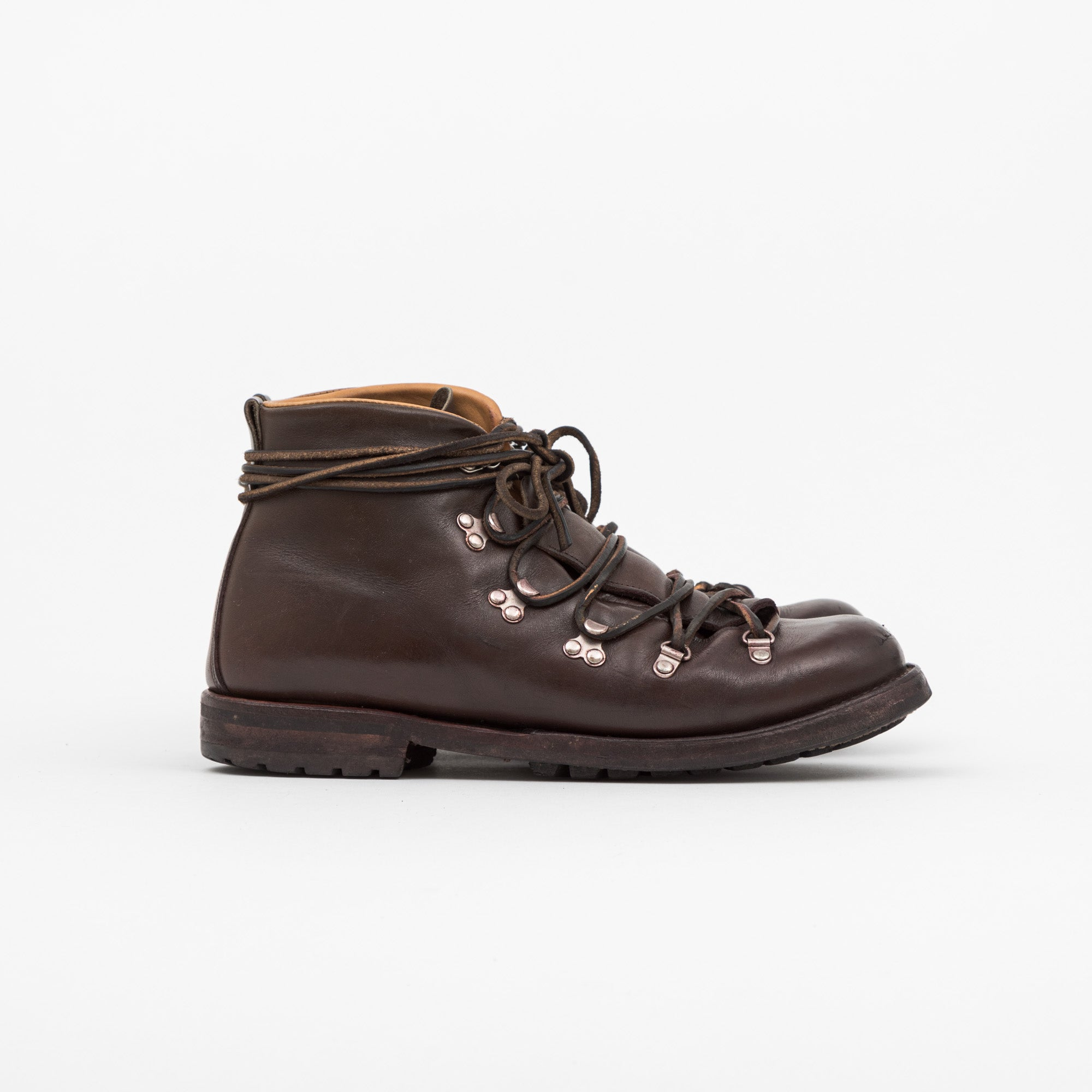 Viberg Boot Leather Ebony Latigo Hiking Boots
