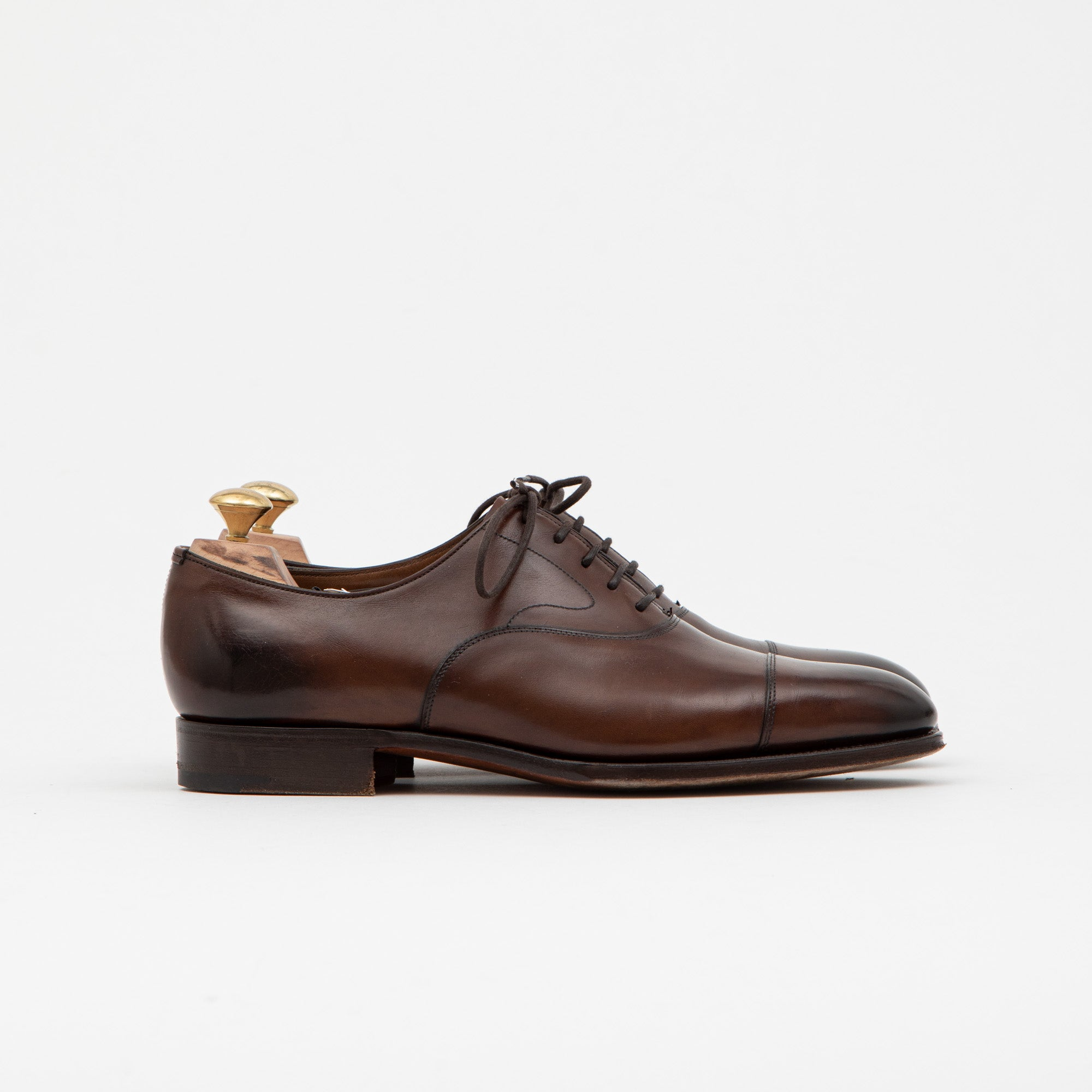 Edward Green Dark Oak Antique Chelsea Shoe