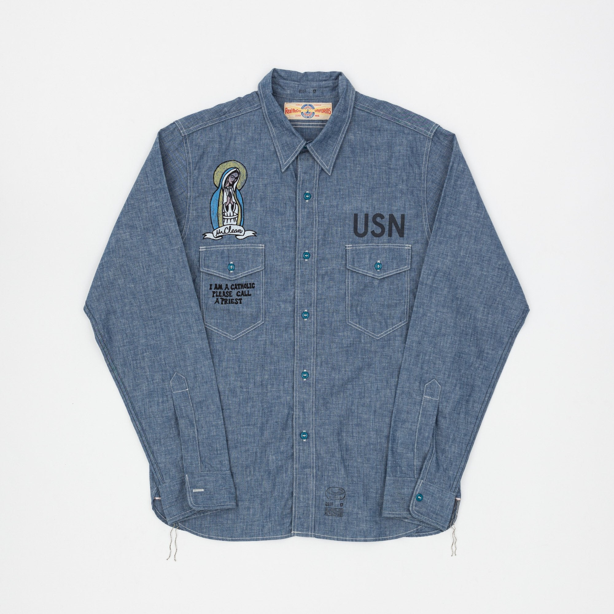 The Real McCoy's Mr.Clean U.S Navy Chambray Shirt