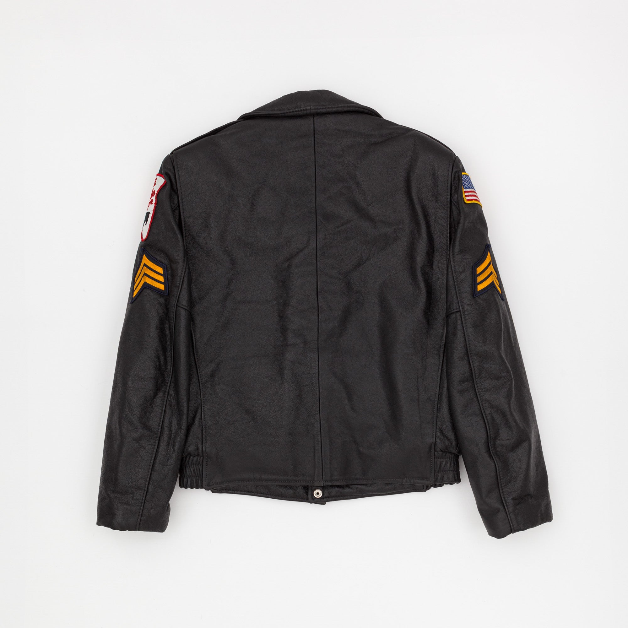Nates Leather Tailors Police Leather Jacket