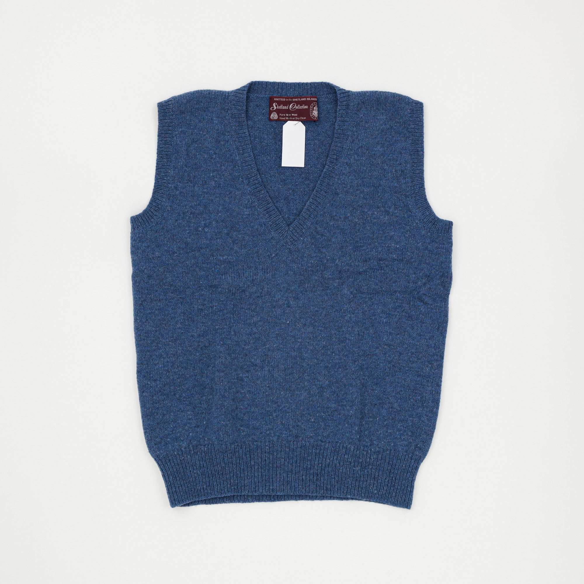 Shetland Collection Plain Sleeveless Sweater
