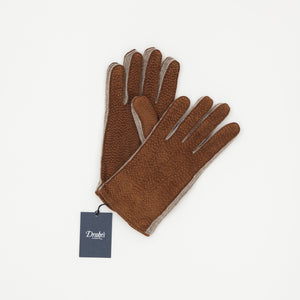 Drake's Leather & Wool Gloves
