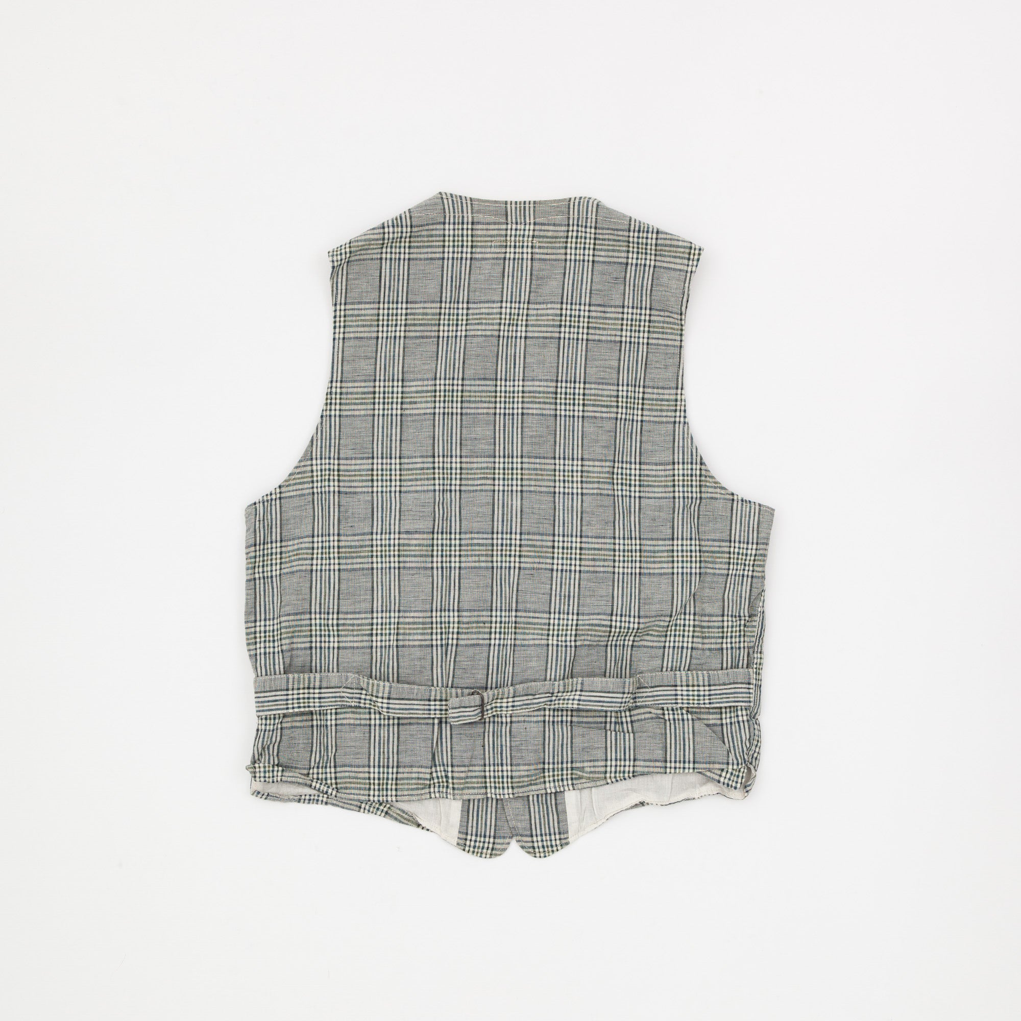 Engineered Garments Linen Check Vest