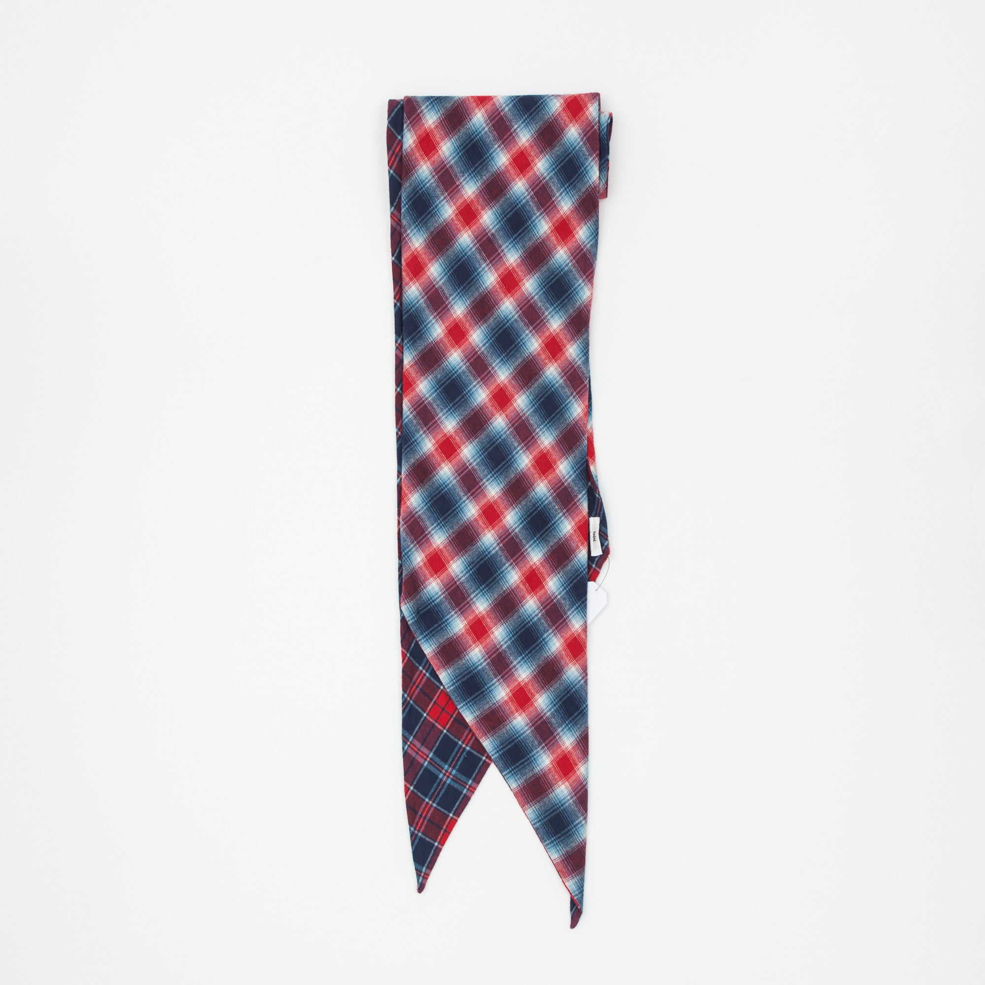 Double Faced Check Bias Cut Flannel Scarf