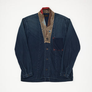 80oz Indigo Denim Juban Shirt