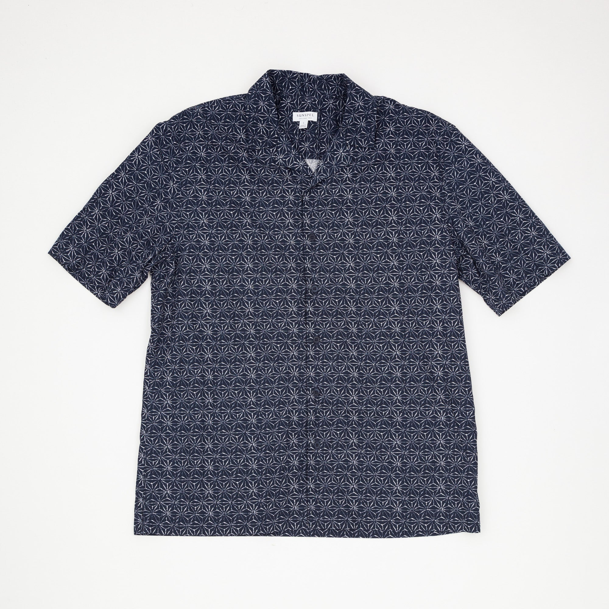 Patterned Short Sleeve Camp Shirt