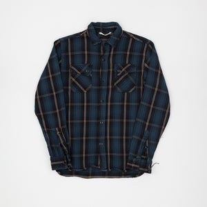Ombre Crosscut Flannel Check Shirt