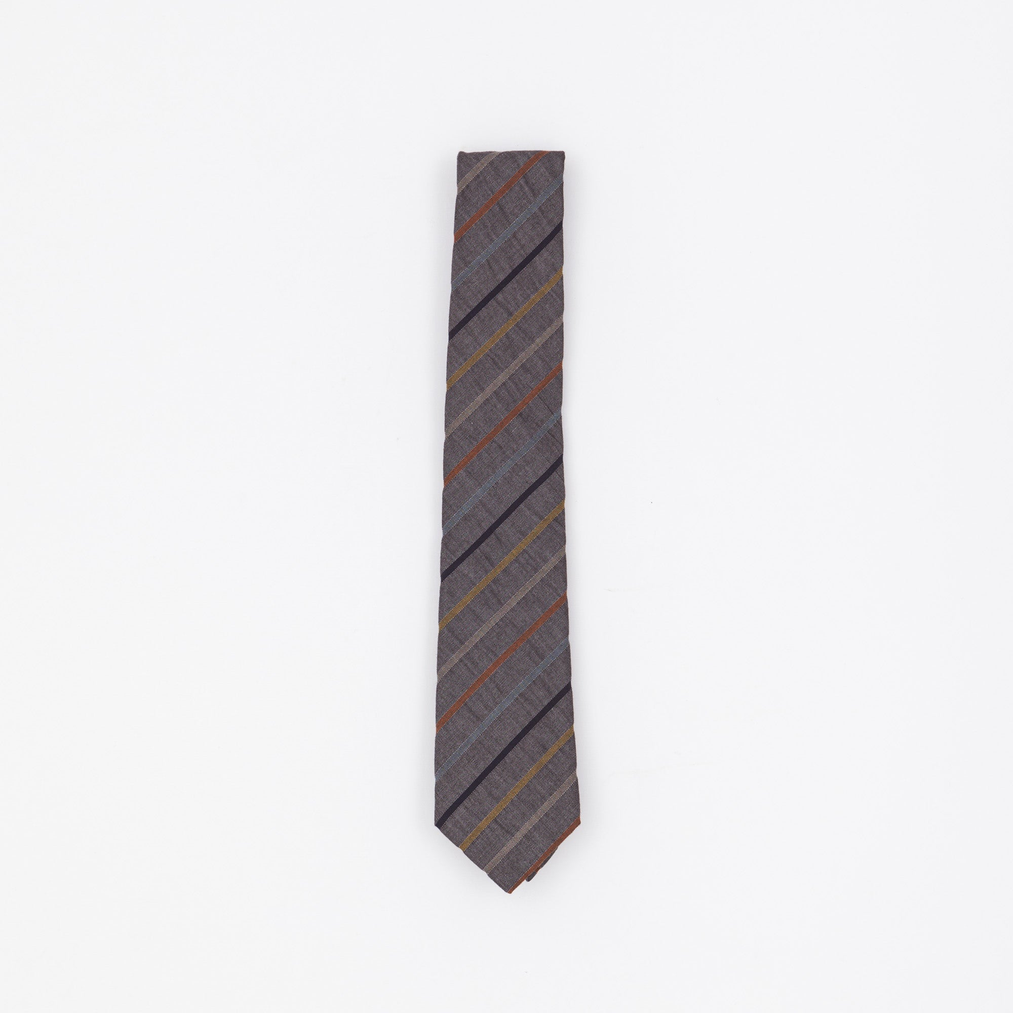 Grey Striped Tie