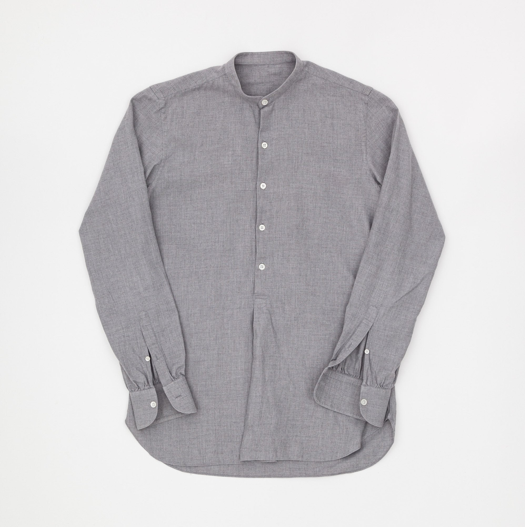 Anderson & Sheppard Brushed Cotton collarless pop-over