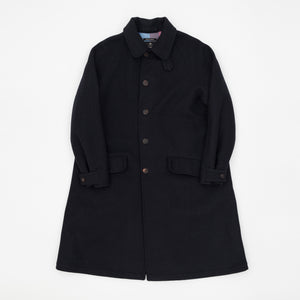 Fox Brothers Melton Wool Overcoat