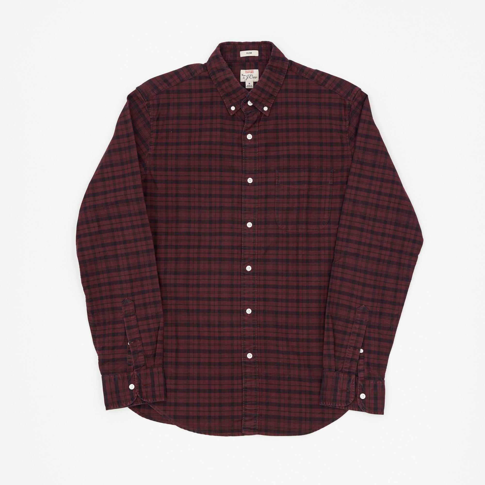 Slim Fit Oxford Checked Shirt