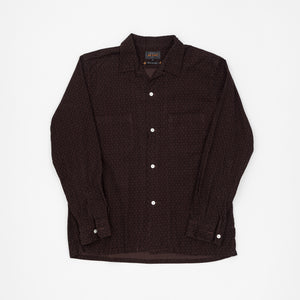 Open Collar Fine Corduroy Shirt