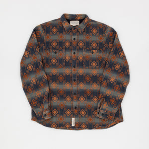 RRL Denim Supply Diamond Printed Flannel Shirt