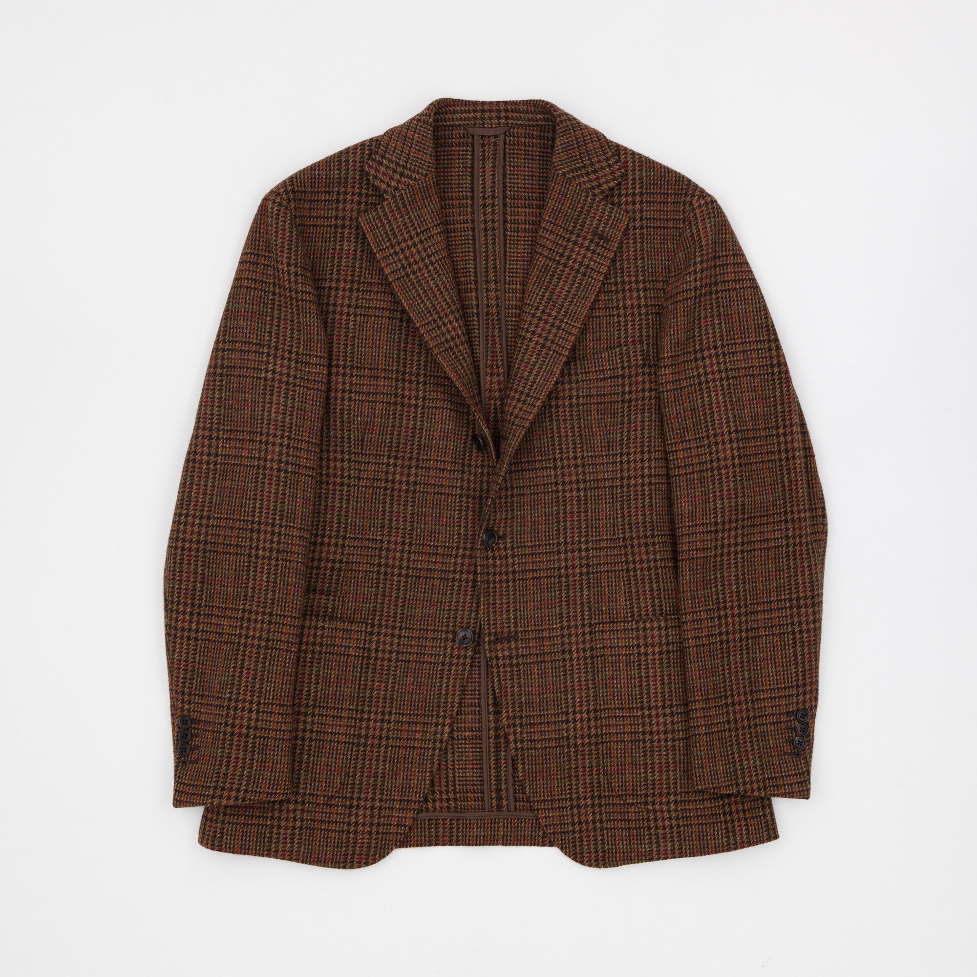Drake's Glen Check Tweed Jacket