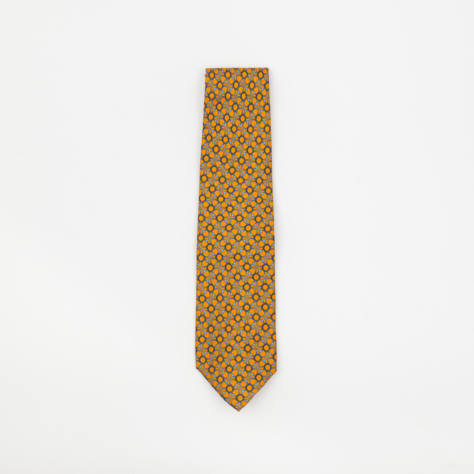 Chain Patterned Silk Tie