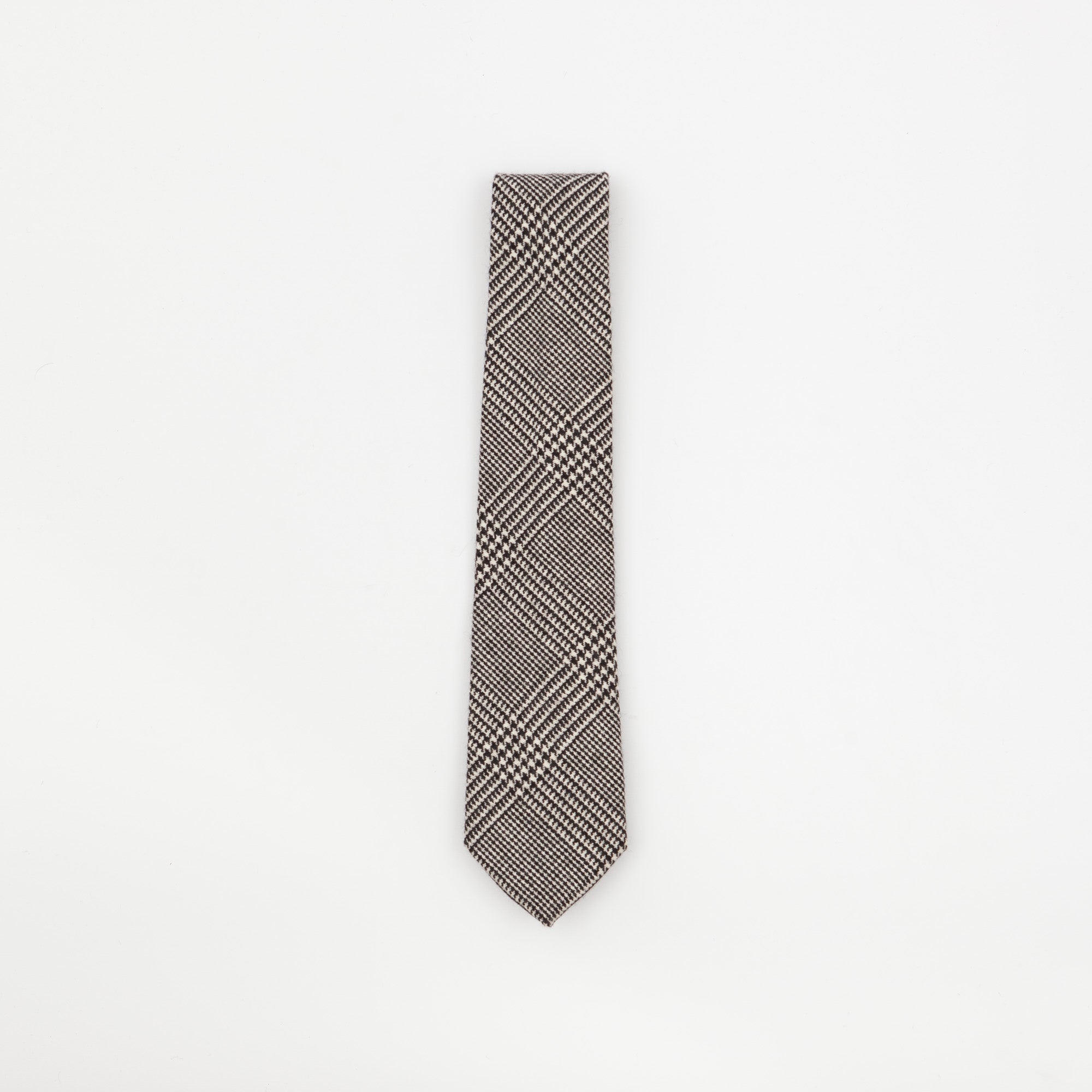 Black DogTooth Check Tie