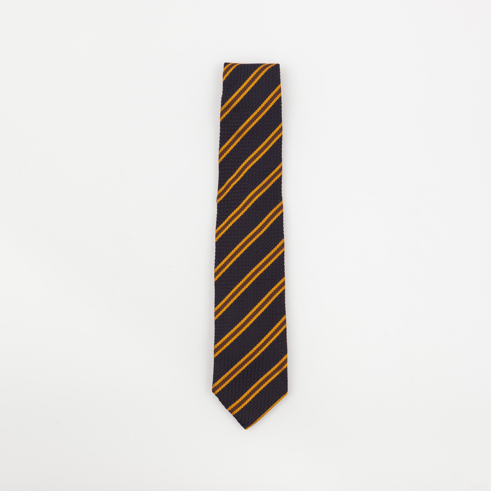 Blue & Yellow Striped Tie