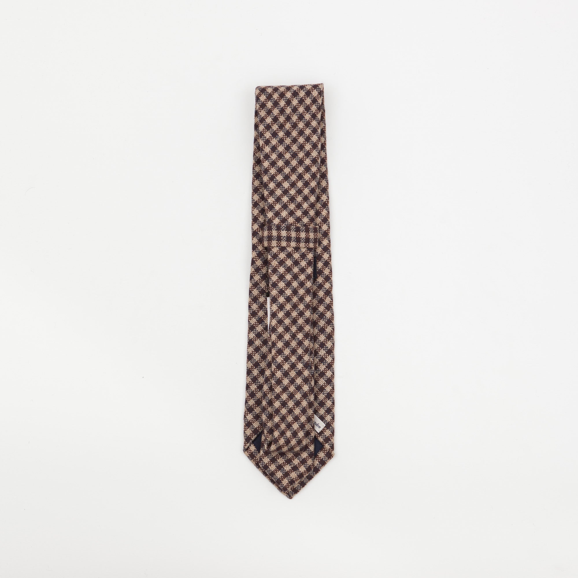 Cashmere Diagonal Checked Tie
