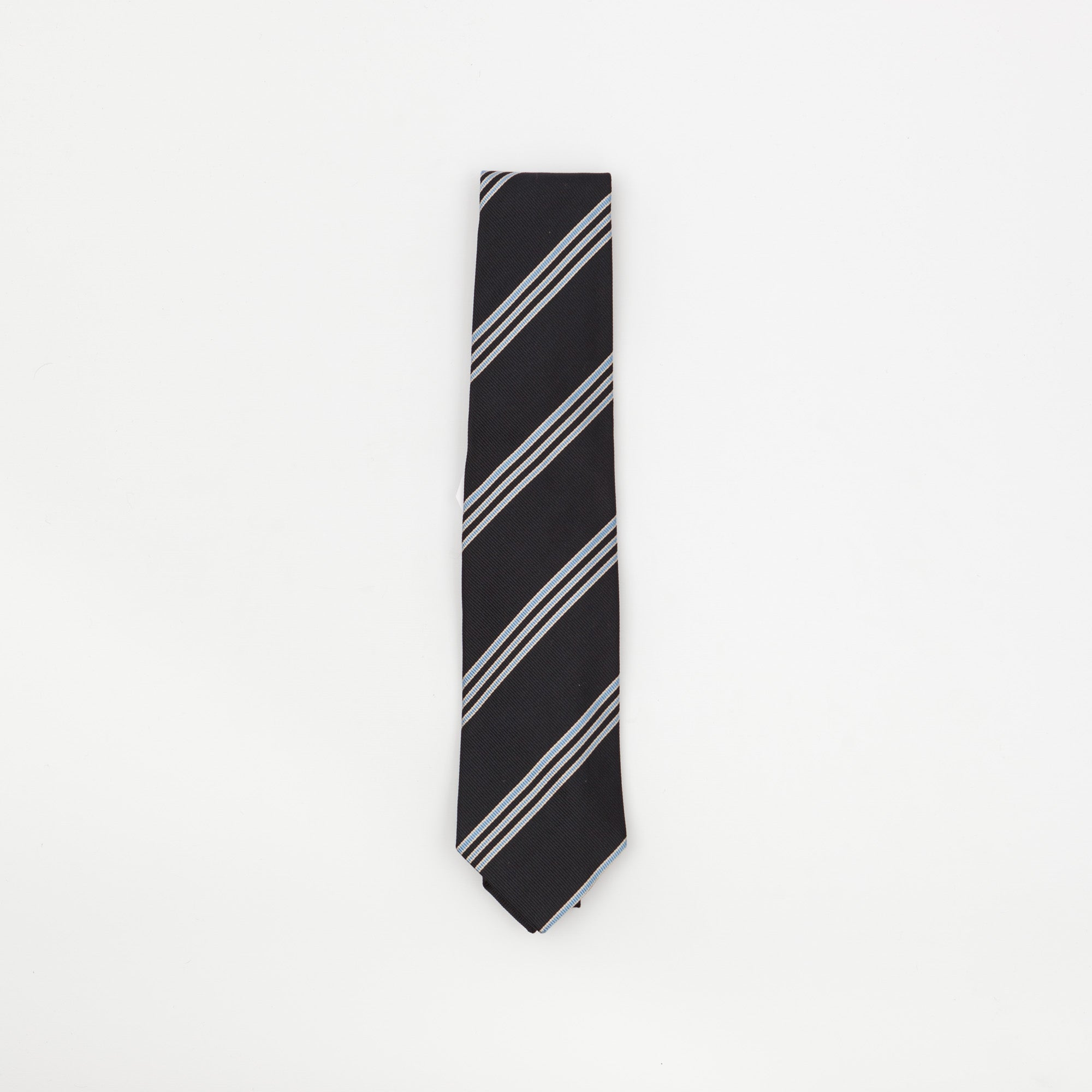 Thin Three Striped Silk Tie