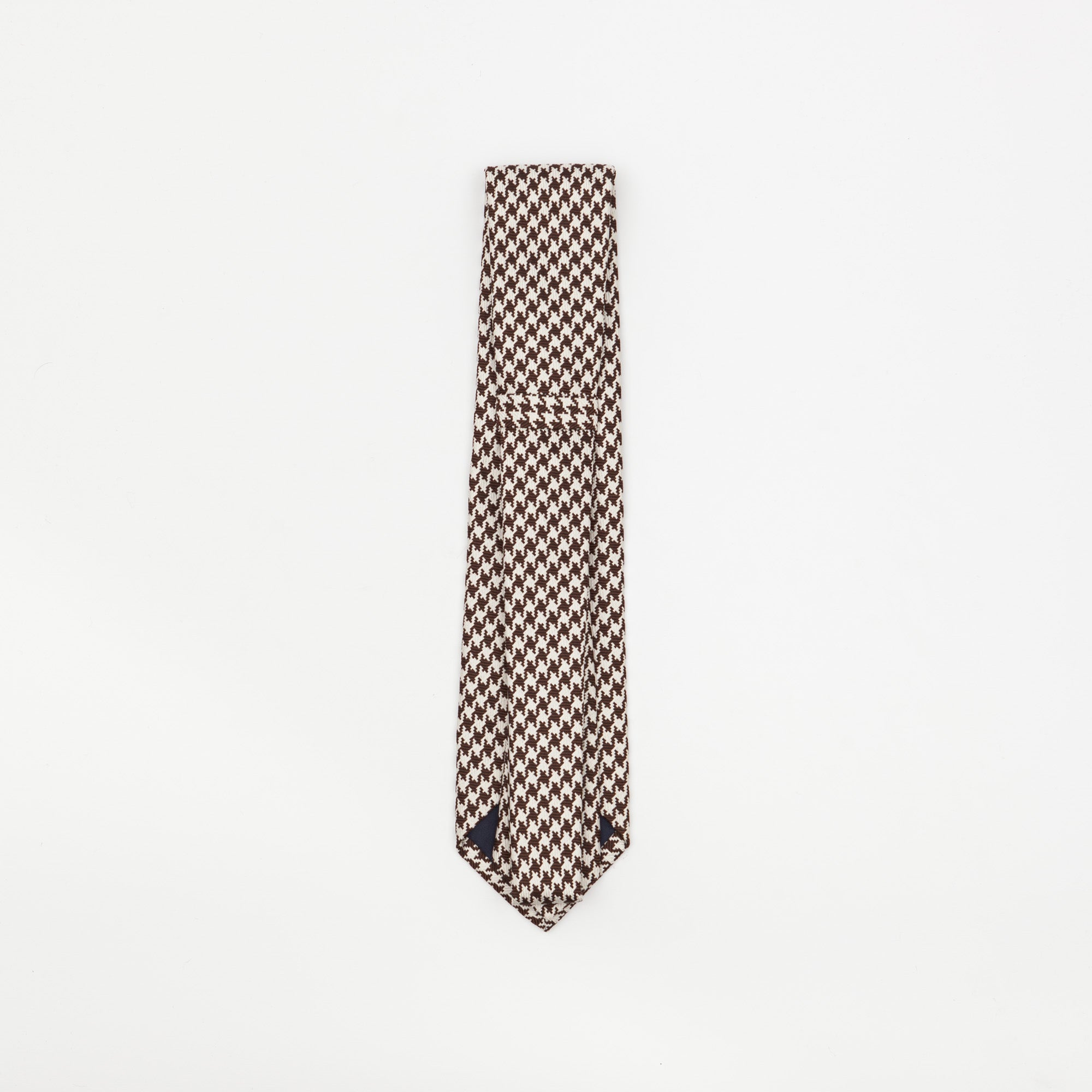 Dogtooth Patterned Silk Tie