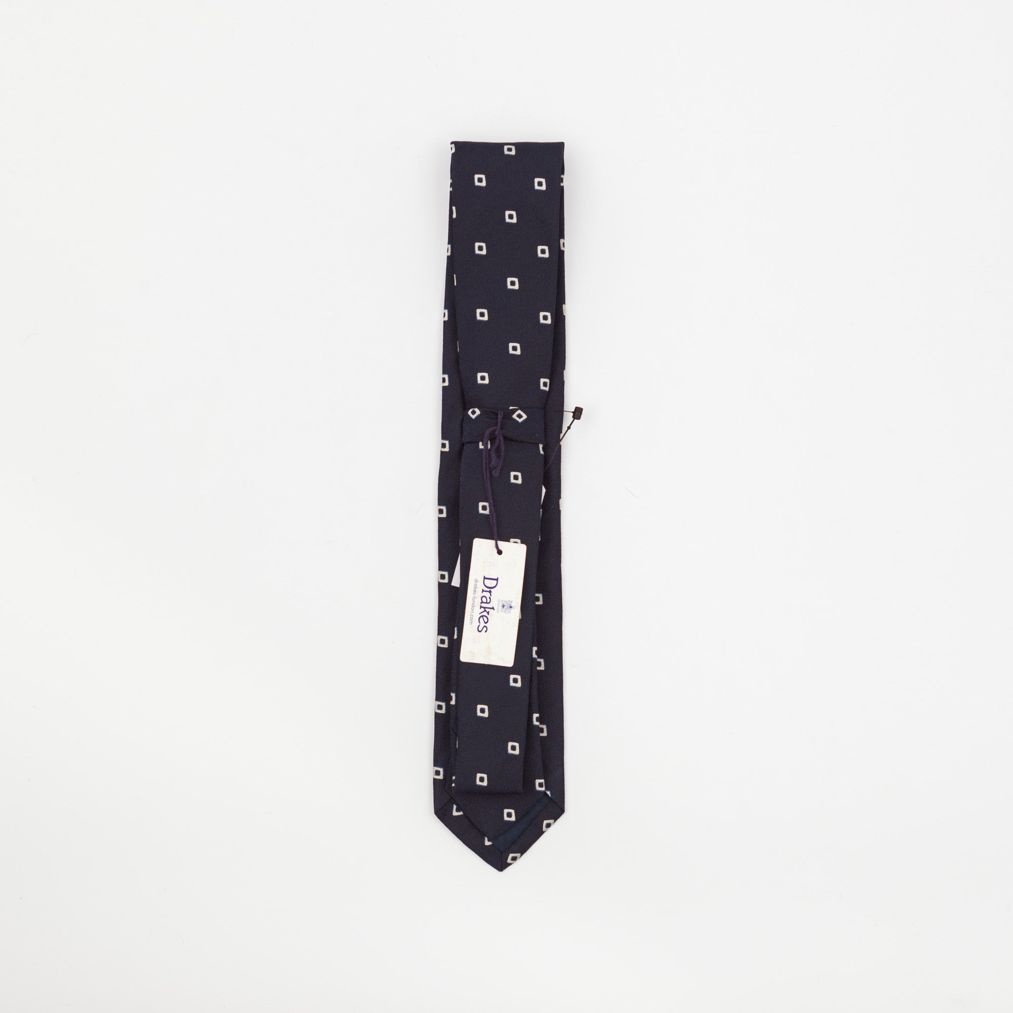 Blue Square Patterned Tie