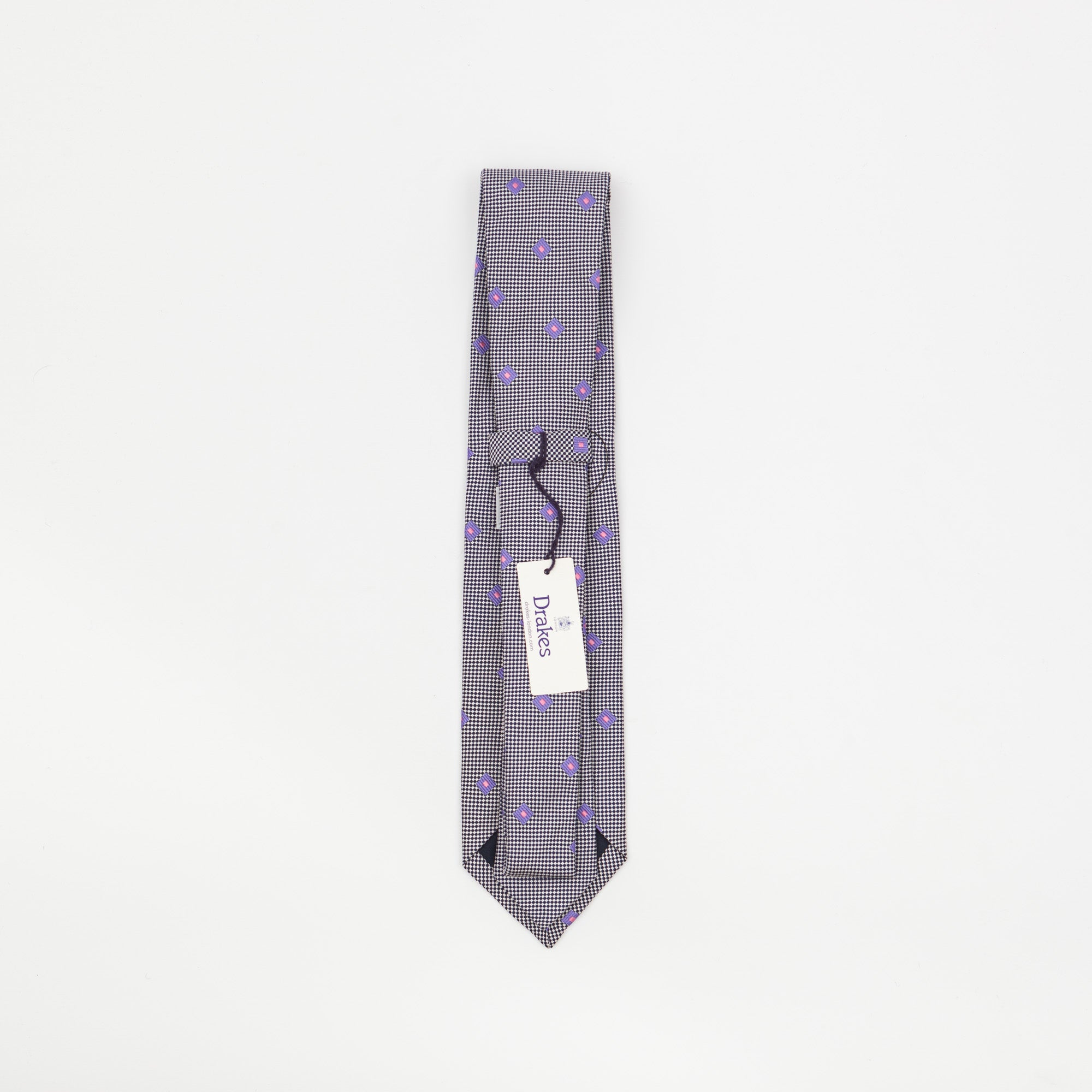 Silk Square Patterned Tie
